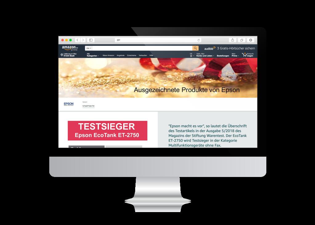 Amazon Web Shop Mockup