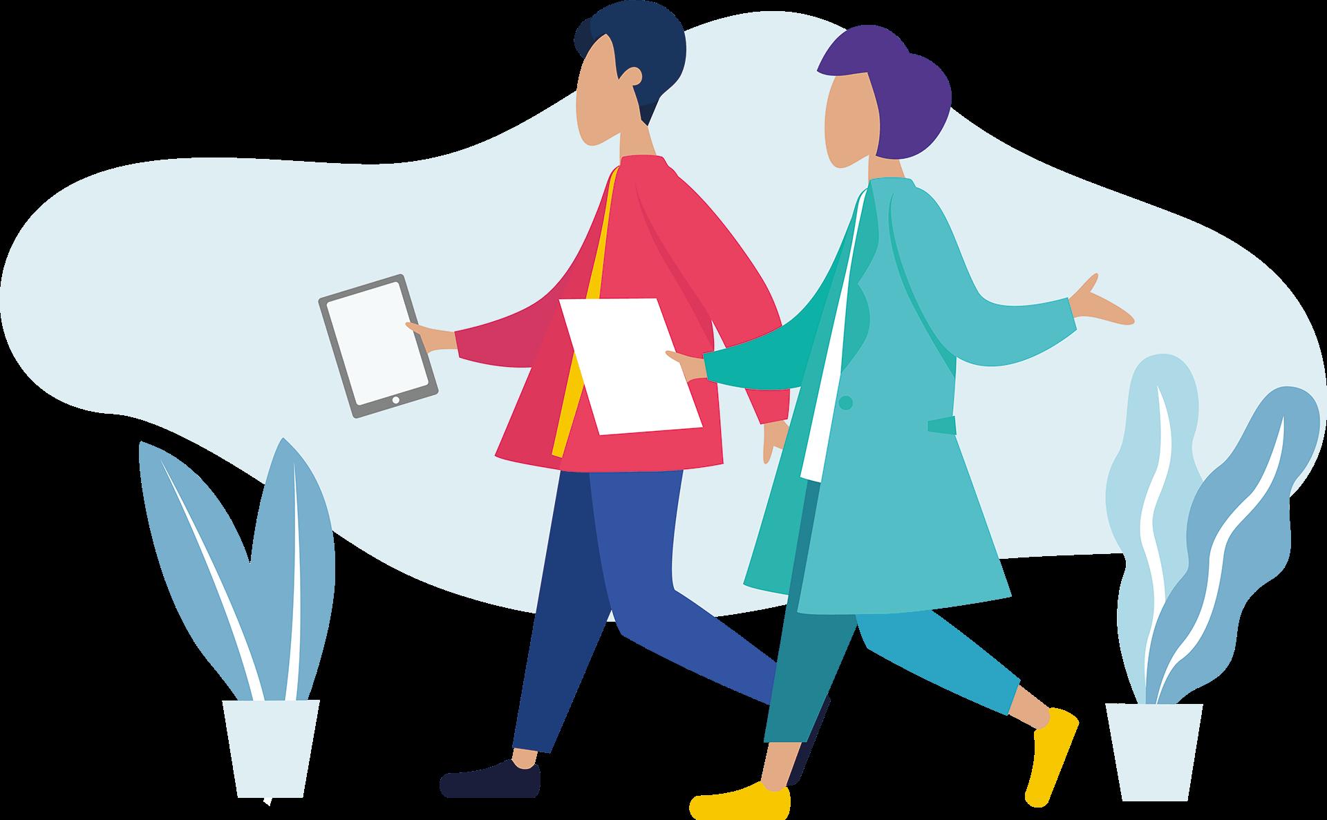 Shop Catalog App - Walking Sales People